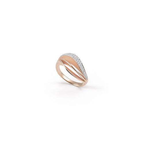 Annamaria Cammilli Ring Velaa Pave Rosegold mit Diamanten Essential GAN3258P
