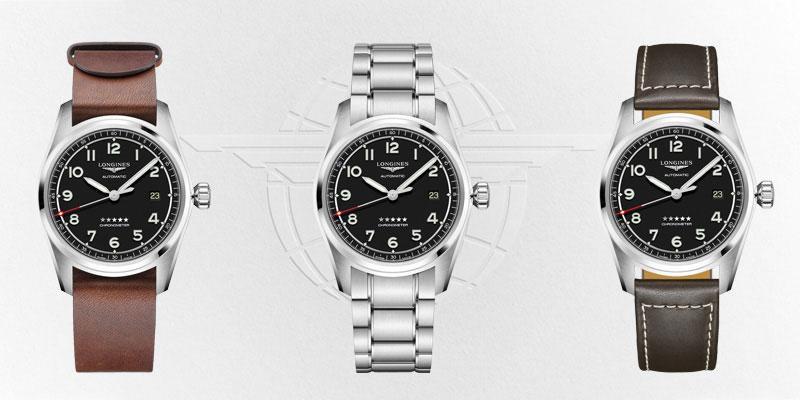 Longines-Spirit-Prestige-Edition-Schwarz-mit-3-Armbaender-L3-810-4-53-9