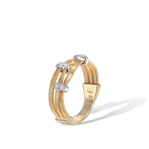 Marco Bicego Marrakech Onde Ring mit Diamanten Gold 18 Karat AG339 B YW