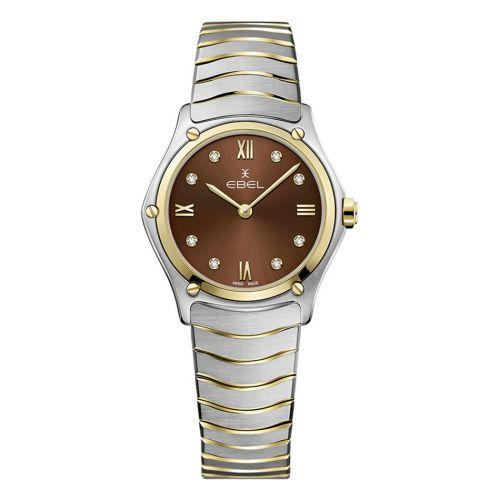 Ebel Sport Classic Lady Damenuhr Bicolor Braun mit Diamanten 29mm 1216445A | Uhren-Lounge