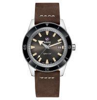 Rado Captain Cook Automatic braun Herrenuhr 42mm mit Leder-Armband R32505305 | Uhren-Lounge
