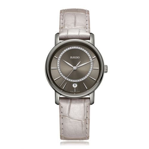 Rado DiaMaster Diamonds M Damenuhr Anthrazit Grau mit Diamanten R14064715