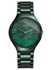 Rado True Thinline Green Leaf Grün 39mm Keramik Damenuhr Quarz R27006912
