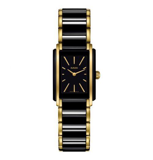 Rado Integral Damenuhr S Schwarz Gold Bicolor Keramik Quartz R20845162 | Uhren-Lounge