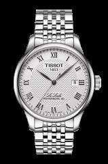 Tissot Le Locle Powermatic 80 Herren Automatik 39mm Silber Edelstahl-Armband T006.407.11.033.00 | Uhren-Lounge