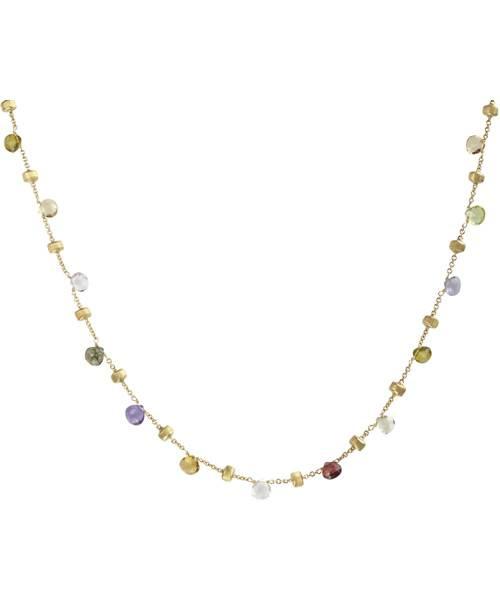 Marco Bicego Paradise Halskette mit Edelsteinen Gold 18 Karat CB1155-MIX01 | Uhren-Lounge