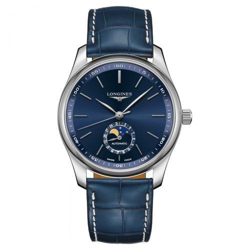 Longines Master Collection Blau Mondphase Leder-Armband Herrenuhr 40mm Automatik L2.909.4.92.0