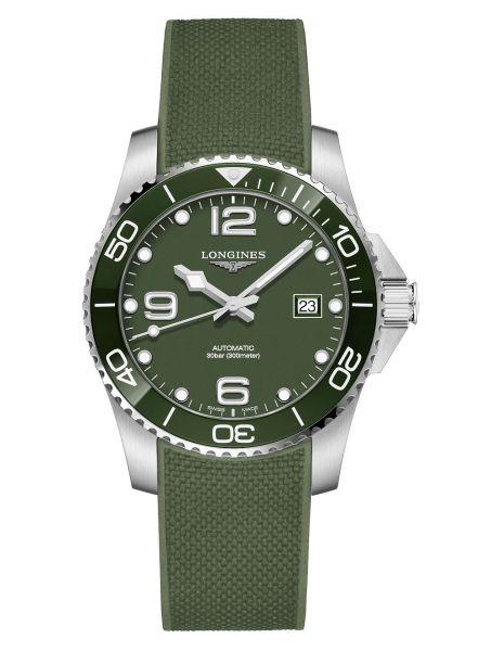 Longines HydroConquest Automatic 41mm Grün Kautschuk-Armband Herrenuhr L3.781.4.06.9   Uhren-Lounge