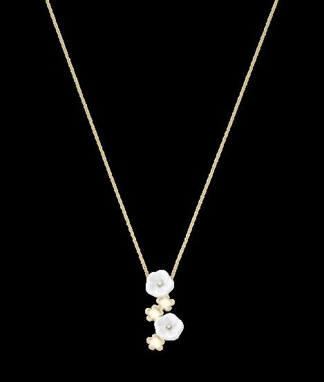 Meissen Collier Halskette 5 Blüten Porzellan Gold Diamanten 1739 Royal Blossom MPJ20BL386C45