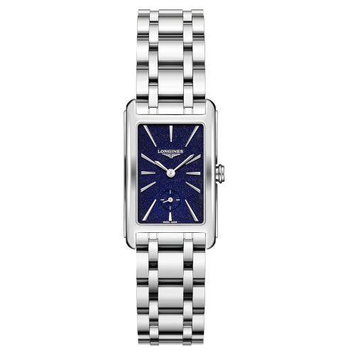 Longines DolceVita Damen Silber Blau Edelstahl-Armband 37mm Quarz L5.512.4.93.6