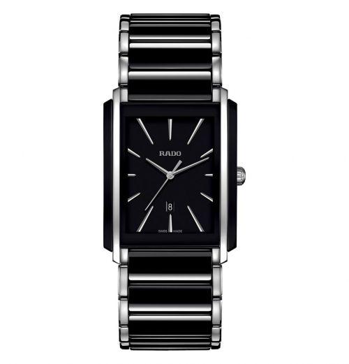 Rado Integral Herrenuhr L Schwarz Silber Keramik Quarz R20206162 | Uhren-Lounge