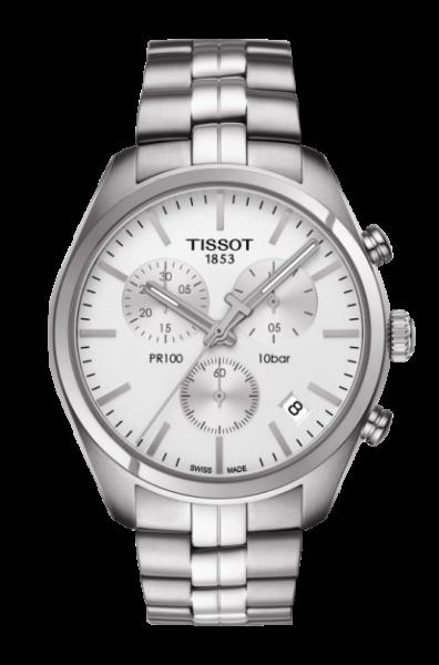 Tissot PR 100 Herren Chronograph 41mm Silber Edelstahl-Armband Quarz T101.417.11.031.00