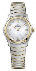 Ebel Sport Classic Lady Damenuhr mit Diamanten Bicolor Gold Silber Perlmutt-Zifferblatt 1216388   Uhren-Lounge