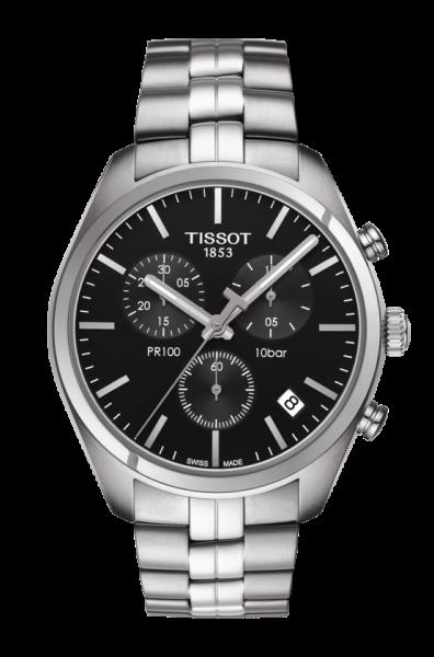 Tissot PR 100 Quarz Herren Chronograph 41mm mit schwarzem Zifferblatt T101.417.11.051.00