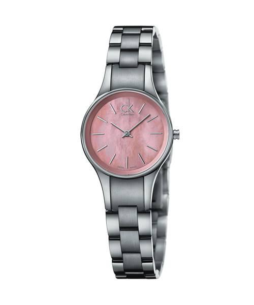 Calvin Klein Damenuhr Rosa Perlmutt Zifferblatt Edelstahl-Armband simplicity extension K432314E | Uhren-Lounge