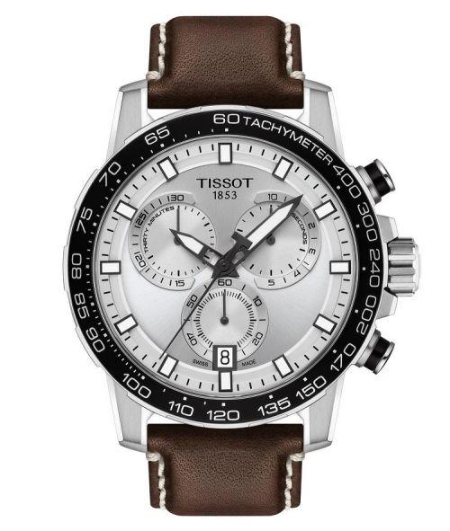 Tissot Supersport Chrono Silber Leder-Armband Braun 45mm Quartz T125.617.16.031.00   Uhren-Lounge