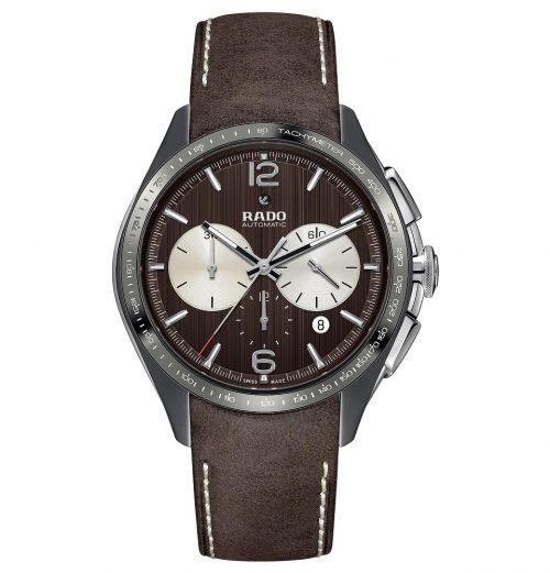 Rado HyperChrome Tennis Limited Edition Automatic Chronograph XXL Braun Lederarmband R32022305 | Uhren-Lounge