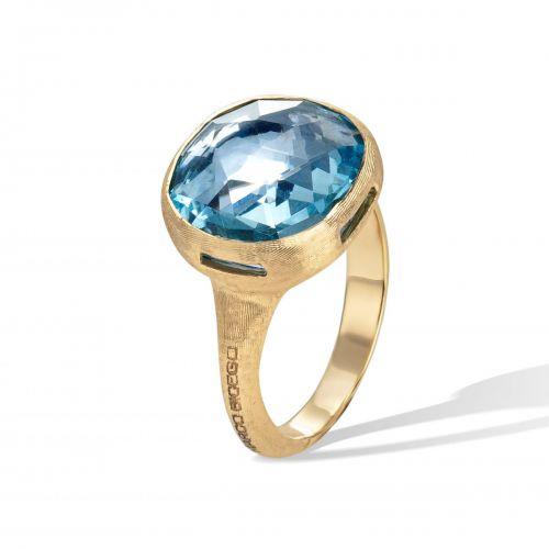 Marco Bicego Jaipur Color Ring Gold mit blauem Topas Edelstein AB617 TP01 Y