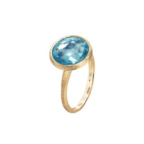 Marco Bicego Jaipur Ring mit blauem Topas Edelstein Gold AB586 TP01