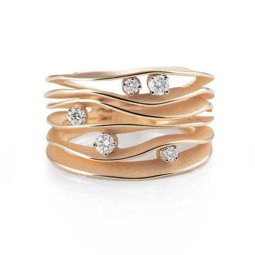 Annamaria Cammilli Dune Ring Gold mit Diamanten Orange Apricot GAN0914J | Uhren-Lounge