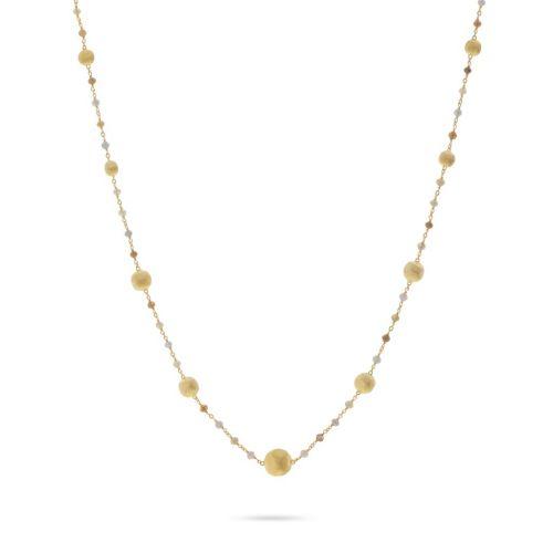 Marco Bicego Damen Halskette AFRICA 42cm aus 18kt Gelbgold mit Diamanten CB2281 BMMIX