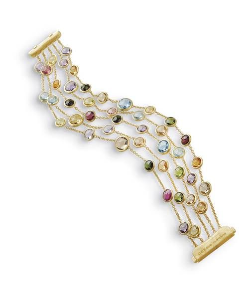 Marco Bicego Damen Armband Jaipur aus 18kt Gelbgold mit Edelsteinmix BB1307 MIX01