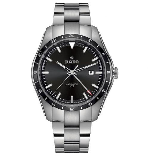 Rado HyperChrome Automatic UTC Limited Edition 44mm Schwarz Edelstahl-Armband Herrenuhr R32050153 | Uhren-Lounge