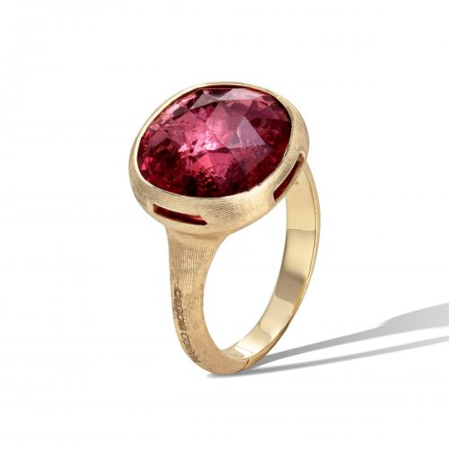 Marco Bicego Jaipur Color Ring mit rosa rotem Pink Turmalin Edelstein Gold AB617 TR01 Y