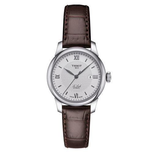 Tissot Le Locle Automatic Lady Silber Leder-Armband braun 29mm Damenuhr T006.207.16.038.00   Uhren-Lounge