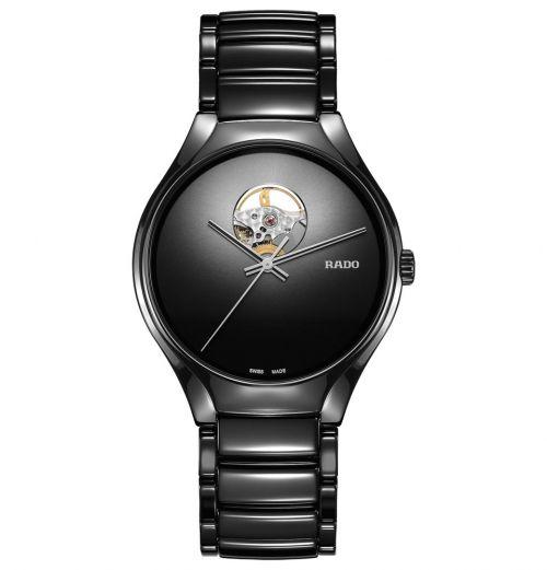 Rado True Secret Open Heart Automatic Schwarz Keramik-Armband 40mm R27107152 | Uhren-Lounge