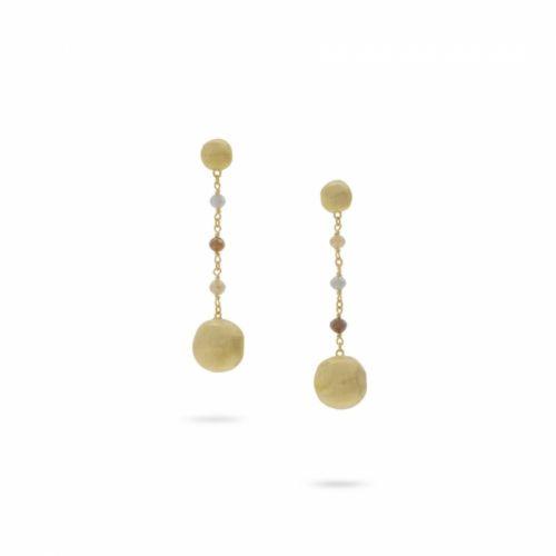 Marco Bicego Africa 18K 750er Gelbgold und Rohdiamant Tropfen Damen Ohrringe OB1581 BMMIX