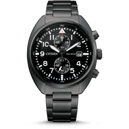 Citizen Chronograph 41mm Eco-Drive Schwarz Edelstahl-Armband CA7047-86E | Uhren-Lounge