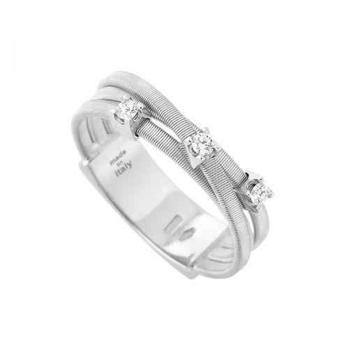 Marco Bicego Ring Weißgold mit Diamanten 18 Karat Goa AG269 B W