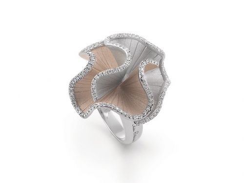 Annamaria Cammilli Sultana Ring Weißgold Beige Diamanten GAN1896B