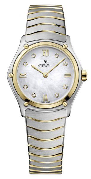 Ebel Sport Classic Lady Damenuhr mit Diamanten Bicolor Gold Silber Perlmutt-Zifferblatt 1216388 | Uhren-Lounge