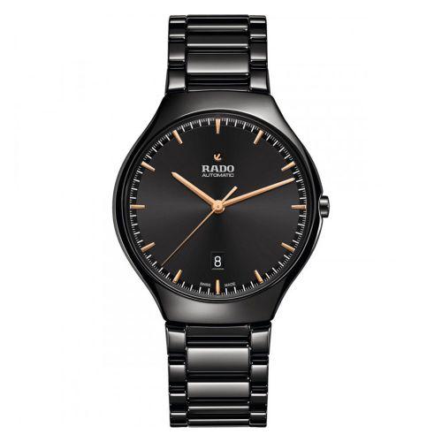 Rado True Thinline Automatic Damen & Herren 40mm Schwarz Keramik-Uhr R27113172 | Uhren-Lounge