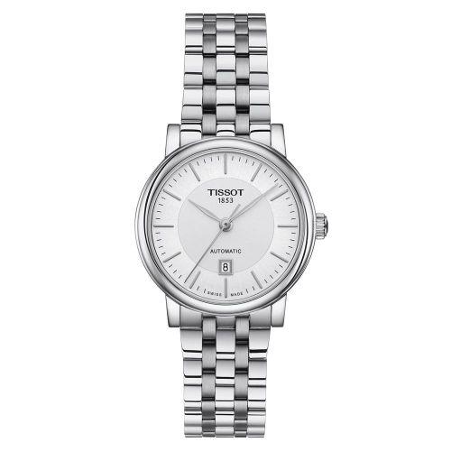 Tissot Carson Premium Automatic Lady Damenuhr Silber Edelstahl-Armband T122.207.11.031.00