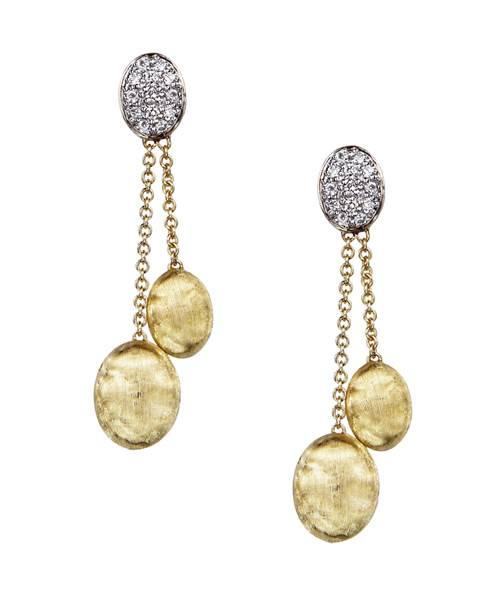 Marco Bicego Ohrhänger Gelbgold 18 Karat mit Diamanten Siviglia Ohrringe OB1328-B