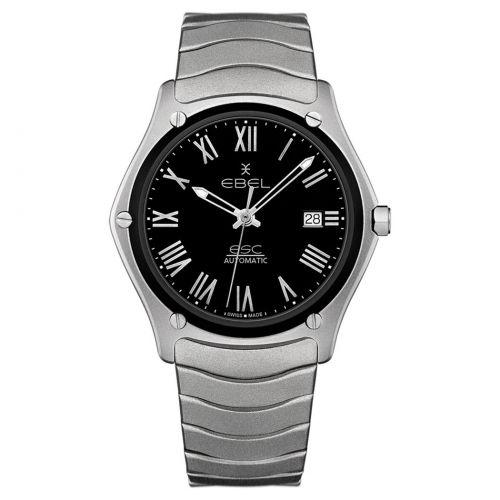 Ebel Sport Classic Titanium Gent Automatik Limited Edition Uhr silber schwarz 40mm 1216470A | Uhren-Lounge