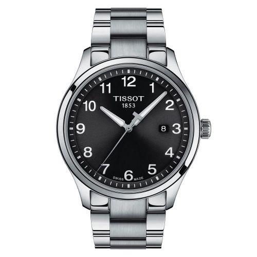 Tissot Gent XL Classic 42mm Silber Schwarz Edelstahl-Armband Quarz T116.410.11.057.00 | Uhren-Lounge