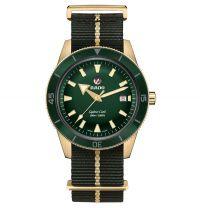 Rado Captain Cook Bronze Grün Nato-Textil-Armband Automatic XL 42mm Herrenuhr R32504317