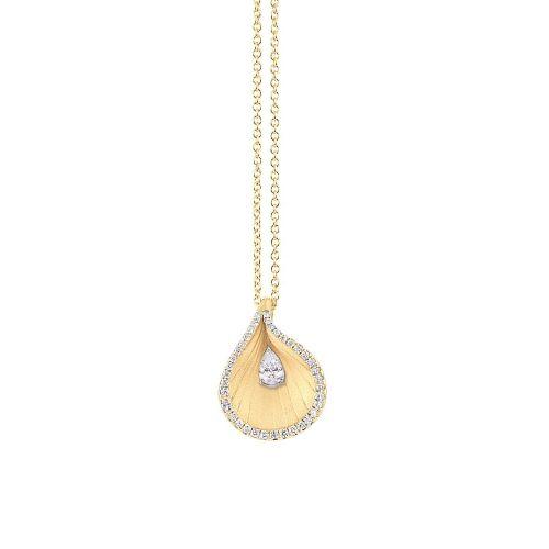 Annamaria Cammilli Kette & Anhänger Gold mit Diamanten Sunrise Premiere GPE2102U | Uhren-Lounge