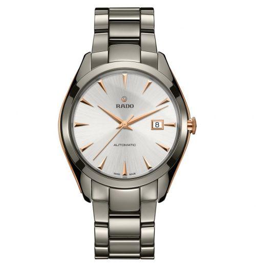 Rado HyperChrome Automatic XL 42mm Grau Silber Rosegold Keramik-Armband Herrenuhr R32256012 | Uhren-Lounge