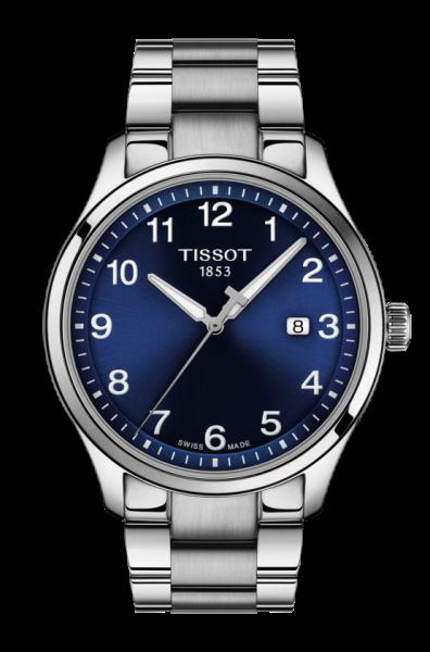 Tissot Gent XL Classic Uhr Herren 42mm blau mit Edelstahl-Armband T116.410.11.047.00