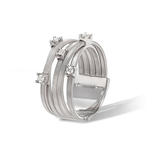 Marco Bicego Goa Ring Weißgold mit Diamanten 5 Stränge AG270 B W