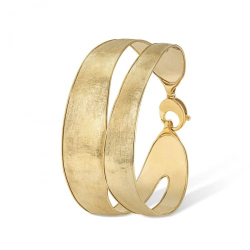 Marco Bicego Armreif Gold 18 Karat mit Doppelband Lunaria Armband SB118 Y