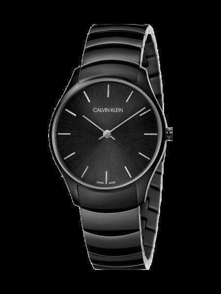 CALVIN KLEIN Uhr Herren Schwarz 38mm Edelstahl-Armband Classic K4D21441 | Uhren-Lounge