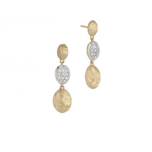Marco Bicego Siviglia Ohrringe mit Diamanten Gold 18 Karat Ohrhänger OB1234 B YW