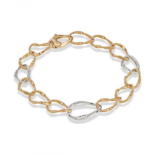 Marco Bicego Marrakech Onde Armband mit Diamanten Gold 18 Karat BG801 B YW