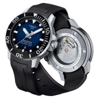 Tissot Seastar 1000 Powermatic 80 Blau Schwarz 43mm Automatik Kautschuk-Armband T120.407.17.041.00